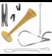 Стетоскоп акушерский деревянный, скобки для пуповины, тазомер, шпатель Эйра, экстракторы вмс